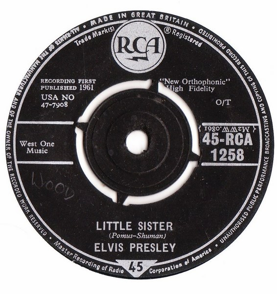 Elvis Presley - His latest flame - RCA 1258 - UK