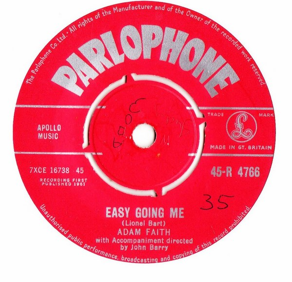 Adam Faith - Easy going Me - Parlophone R.4766 UK