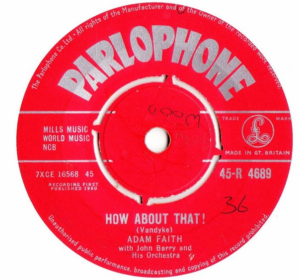 Adam Faith - How about that ! - Parlophone R.4689 UK