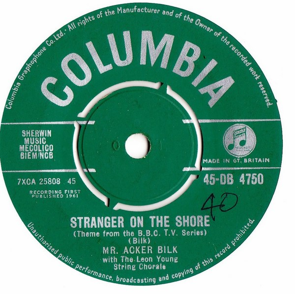 Acker Bilk - Strangers on the Shore - Columbia DB. 4750