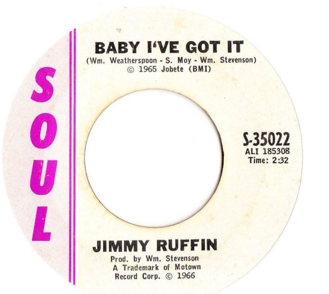 Jimmy Ruffin - Baby I've got it - Soul Records S-35022