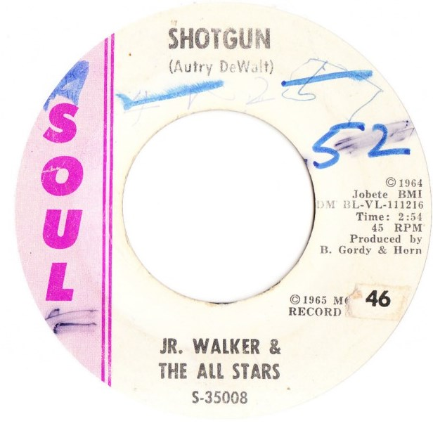 J R. Walker & All Stars - Shotgun / Hot Cha - Soul 35008 USA