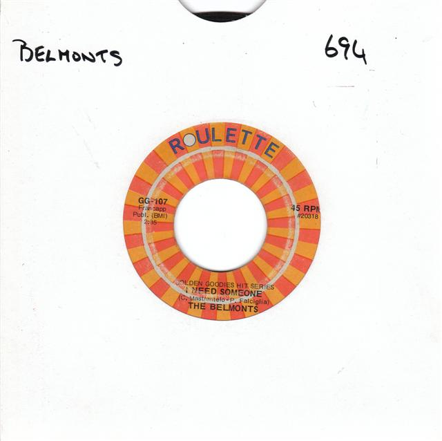 DION & BELMONTS - ROULETTE GG 107 { 694
