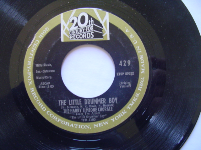HARRY SIMEONE - LITTLE DRUMMER BOY - 20th FOX