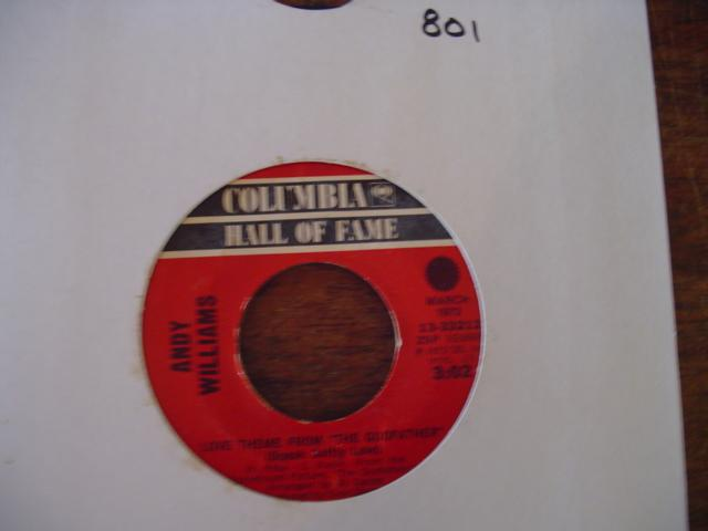 ANDY WILLIAMS - COLUMBIA - 33212 { 801