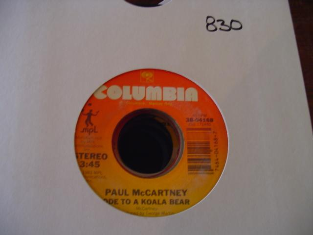 PAUL McCARTNEY & MICHAEL JACKSON - COLUMBIA { 830