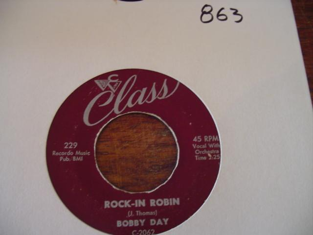 BOBBY DAY - CLASS RECORDS 229 { 863