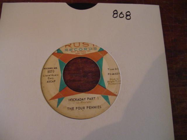 THE FOUR PENNIES - RUST RECORDS 5070 { 868