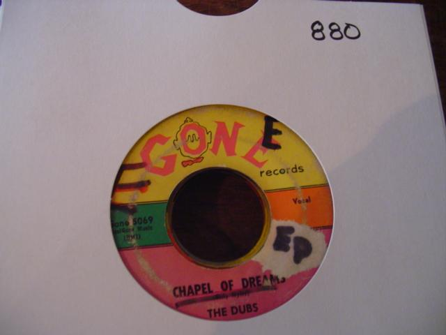 THE DUBS - GONE RECORDS 5069 { 880
