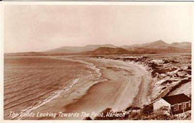 Harlech - Sands looking towards The Point - Real Photo
