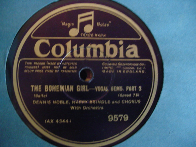 BALFE - BOHEMIAN GIRL - VOCAL GEMS - COLUMBIA