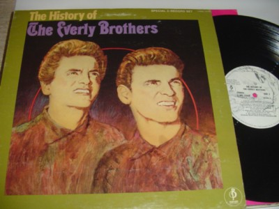 THE EVERLY BROTHERS - HISTORY OF - BARNABY 2LP PROMO { 493