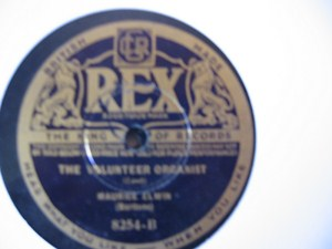 Maurice Elwin - Baritone The Lost Chord - Rex UK