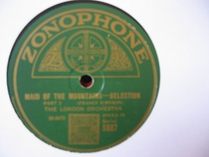 London Orchestra - Maid of the Mountais - Zonophone