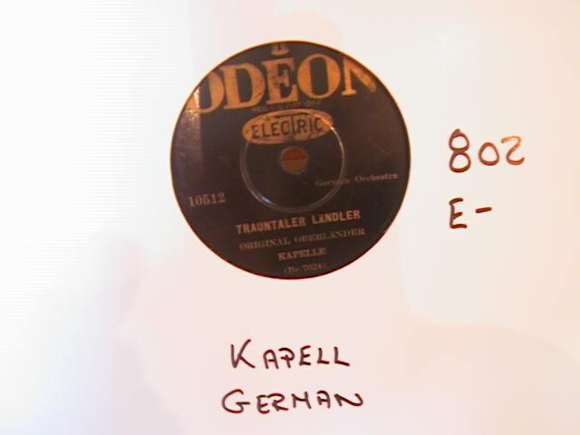KAPELLE - GERMAN - ODEON ELECTRIC - 802