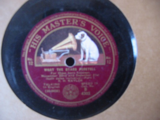 R.H. NAYLOR - WHAT YOUR STARS FORETELL # 12 - HMV 4303