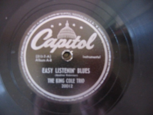 NAT KING COLE TRIO - EASY LISTENIN BLUES - CAPITOL 20012