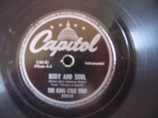 NAT KING COLE TRIO - BODY AND SOUL - CAPITOL 20010