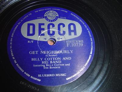BILLY COTTON - MARCH HARE - DECCA 10739 { 1989