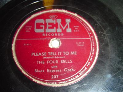 THE FOUR BELLS - PLEASE TELL IT TO ME - GEM 207 { 1965