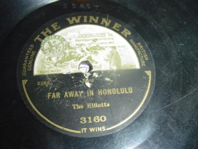 THE ELLIOTTS - FAR AWAY HONOLULU - WINNER 3160 { 1962