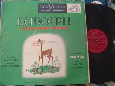RUDOLPH RED NOSED - PAUL WING - RCA 2 DISC { 1960