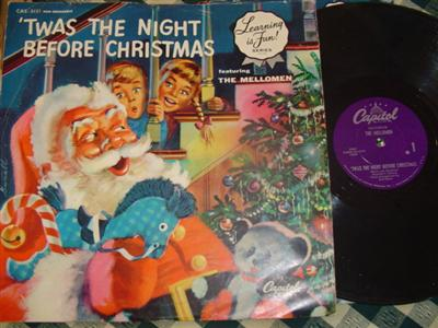 MELLOMEN - TWAS NIGHT BEFORE CHRISTMAS - CAPITOL { 1959