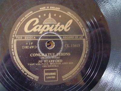JO STAFFORD - SCARLET RIBBONS - CAPITOL 13615 { 1952