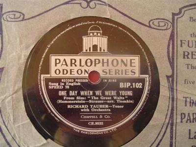 RICHARD TAUBER - IN LOVE VIENNA - PARLOPHONE { 1944