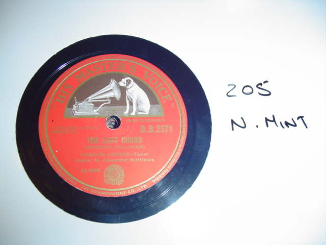 RICHARD CROOKS - PROCTOR SULLIVAN HMV db 2571{ 205
