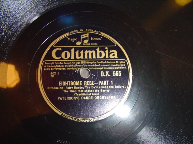 PATERSON DANCE ORCHESTRA - REELS - COLUMBIA DX 555 { 276