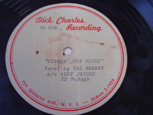 VAL ARMAND - SINGIN THE BLUES - ACETATE