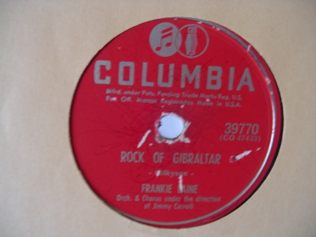 FRANKIE LAINE - ROCK OF GIBRALTAR - COLUMBIA 39770