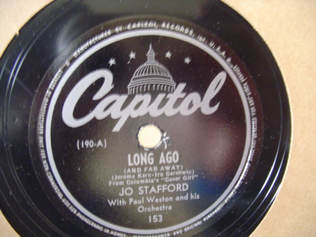 Jo Stafford - LONG AGO - CAPITOL 153