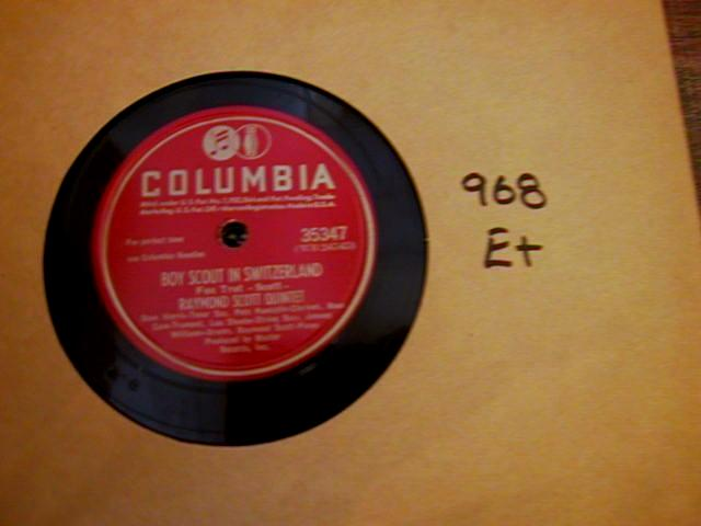 RAYMOND SCOTT - COLUMBIA 35347 { 968