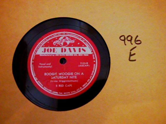 5 RED CAPS - JOE DAVIS RECORDS 7133 { 996