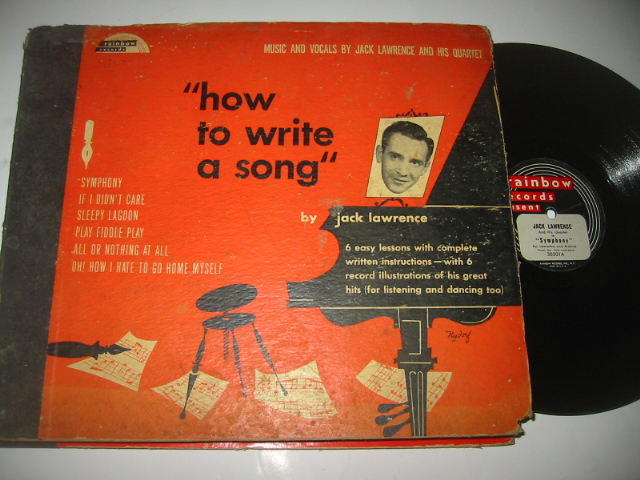 JACK LAWRENCE - HOW TO WRITE SONG - RAINBOW 3 DISC