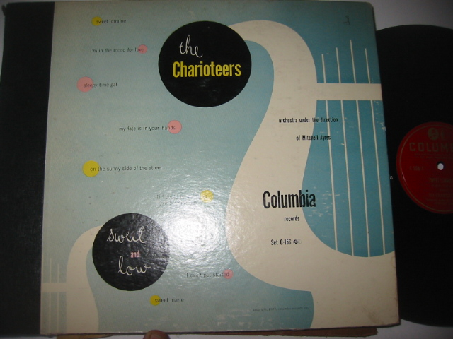 THE CHARIOTEERS - SWEET & LOW - CLOUMBIA SET { 44