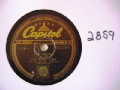Nat King Cole - Too Young - Capitol UK