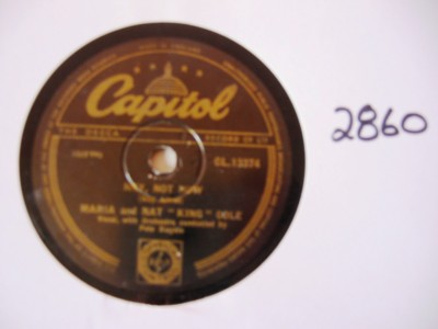 Nat King Cole & Maria - Hey not now - Capitol UK