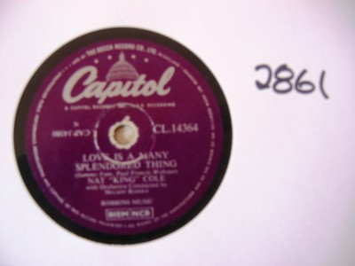 Nat King Cole - Love is a many Splendored Thing - Capitol UK