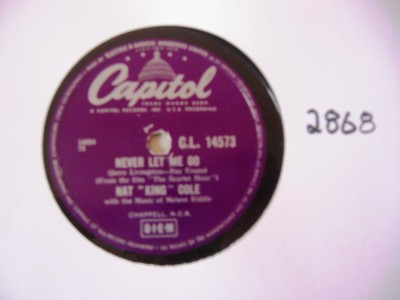 Nat King Cole - Too Young to go steady - Capitol UK