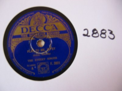 The Street Singer - Play to me Gypsy - Decca UK
