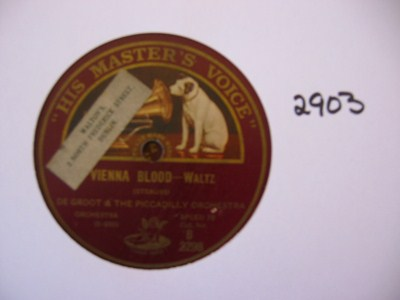 De Groot - Vienna Blood - HMV B.2298 UK