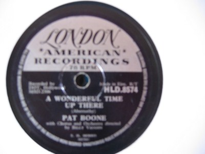 Pat Boone - Its too soon to know - London Irish Pressing
