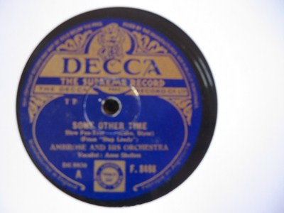 Ambrose Orchestra Anne Sheldon - Some other Time - Decca UK