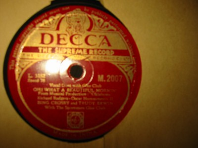 Bing Crosby & Trudy Erwin - Beautiful morning - Decca India