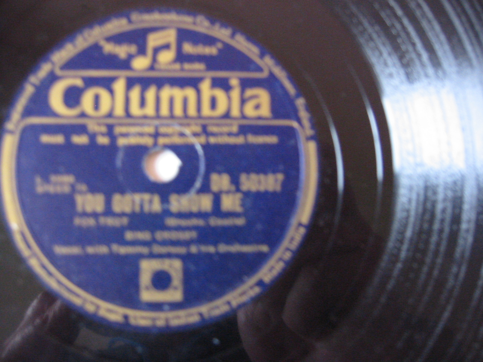 Bing Crosby - You gotta show me - Columbia India
