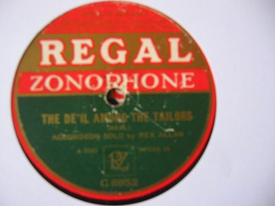 Rex Allan Accordian - High Level Hornpipe - Regal UK