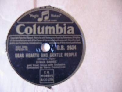 Dinah Shore - Ma curley headed Baby - Columbia UK